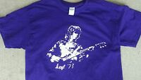 Keith Richards 73 vintage style t shirt  Rolling Stone w telecaster sm-5xlg mblu