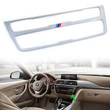 For BMW F30 F34 F31 F36 White Interior Decal CD Console Control Panel Trim 18