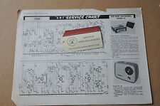Ever Ready Car Portable Defiant A5 ERT Service Chart 1269 Vintage Service Sheet