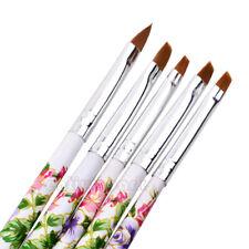 5pcs UV Gel Acrylic Nail Art Brush Painting Pen Kit Nail Design Manicure Tool