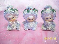 Vintage Lot Lefton Christmas Snow Babies Girl Angel Figurine Set