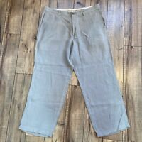 Tommy Bahama Flat Front Silk Linen Blend Dress Chino Pants Men's Size 38