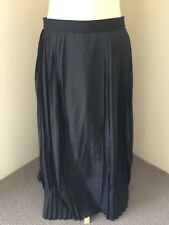 COUNTRY ROAD Black Pleasted Midi Skirt Size 8 Near new