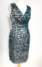 MONSOON BLUE GREY Silk Blend Dress. Size 10. new with tags.