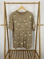 VTG Bird House All Over Print Single Stitch Short Sleeve T-Shirt Size XL
