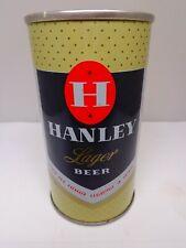 Hanley Lager Straight Steel Pull Tab Beer Can #74-3 Cranston, Rhode Island