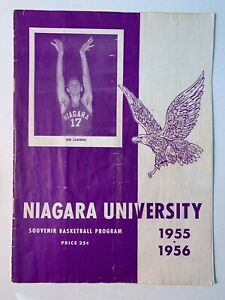 1956 Niagara University vs Siena College Basketball Program FAIR+ Condition