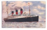 LS1003 - Cunard Liner - Berengaria - art by John H Fry - postcard