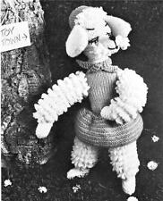 1950's CHIC POODLE - COPY toy knitting pattern
