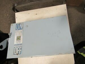SQUARE D PQ-3606, 60 AMP, 3 POLE, 600 VOLT BUSWAY SWITCH (GOOD CONDITION)