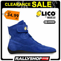 FIA Lico By Sparco Suede Blue Shoes High Shoes Size 36 Rally CLEARANCE SALE!