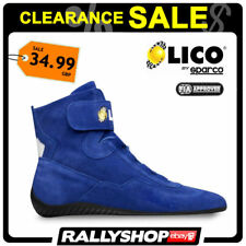 6cc0fffd6e3 FIA Lico by Sparco Suede Blue Shoes High Fire Shoes Size 36 Rally Race