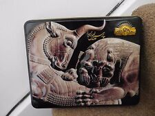 Tin Black Box with Historical Persian Scene