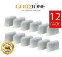 (12) GoldTone Charcoal Water Filters for All Cuisinart Coffee Makers - DCC-RWF