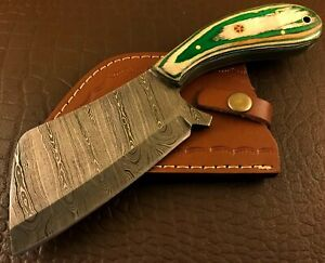 Handmade Damascus Steel Hatchet-Axe-Functional-Hunting-Camping-Outdoor-dh49