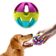 Pet Cat Dog Puppy Jingle Bell Ring Ball Round Roll Fetch Play Chewing Toy 7cm