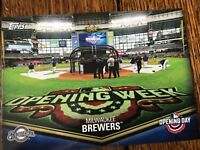 Milwaukee Brewers 2018 Topps Opening Day Opening Day at the Ballpark Insert
