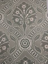 Sold as a LOT of 6. Vintage Wallpaper Green Damask Large Print by Motif