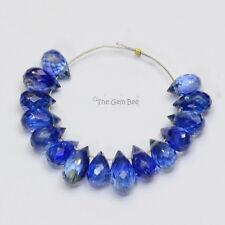 Gem Kyanite Faceted Teardrop Briolette Beads (15)