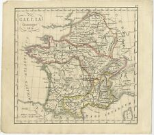 Antique Map of France by Funke (1825)