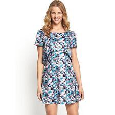 South Estampado Floral Vestido De Corte Camiseta Talla 14 BNWT B7