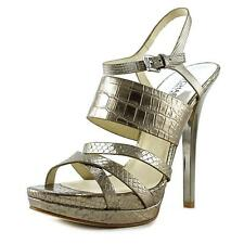 Michael Kors Leather High (3 to 4 1/4) Heel Height Sandals for Women