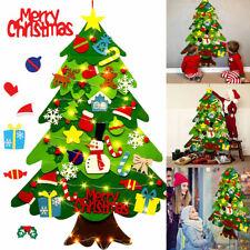 DIY Albero di Natale nel Feltro per Bambini con Ornamenti Regalo di Natale LED