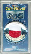 NEW POLAND Kings Car-Shield Fits ALL Auto Grills Emblem Brass, Chromium Finish