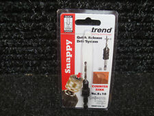 "TREND SNAPPY HSS DRILL COUNTERSINK 1/4"" HEX SHANK SNAP/CS10 8 & 10"