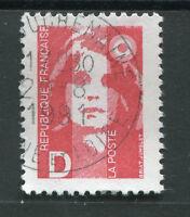 FRANCE - 1991 - timbre 2712, type Marianne D rouge, oblitéré