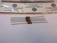 5 Allen Bradley Carbon Comp Resistors 10k 1/2W 5%