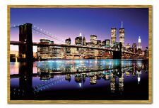 Brooklyn Bridge Poster Oak Framed Ready To Hang Frame Free P&P