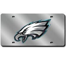 Philadelphia Eagles Mirrored Laser Cut License Plate Laser Tag