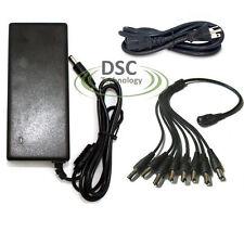 Power Adapter Splitter 12V DC 8A CCTV Power Supply Adapter 8 Way Splitter Camera