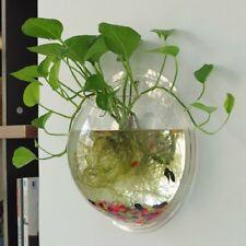 """8.8"""" Fish Wall Mounted Tank Wall Haning Fish Planter Small Aquarium Decorations"""