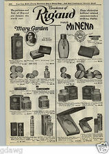 1925 PAPER AD Rigaud Mary Garden Paris Minena Perfume Toilet Water Mavis Eau De