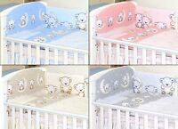 TEDDY PATTERN Baby Bedding Set fit Cot 120x60cm or Cot Bed 140x70 -BABY GIRL BOY