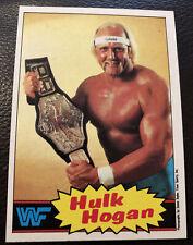 1985 Topps WWF Hulk Hogan Topps Rookie Wrestling RC WWE WCW NWO, Card#1, PSA?