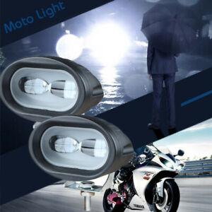 2x Spotlight Work Light 2LED 20W Motorcycle Offroad Spotlight Lamp 6D Waterproof