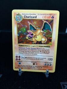 🔥 Shadowless Charizard - 1999 Pokemon Base Set 4/102 - VERY NICE! 🔥