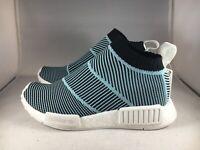 Adidas NMD CS1 Parley Mens Size 5 Primeknit Sneaker Blue/White/Black AC8597