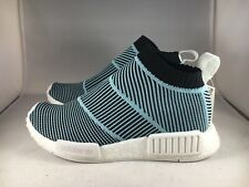 Adidas NMD CS1 Parley Mens Size 5 Primeknit Sneaker Blue/White/Black AC8597 New