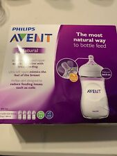 Philips Avent 4 Pack Wide Neck 4oz Bottles Natural New...