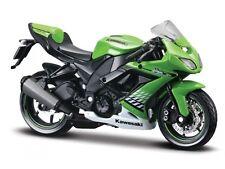 KAWASAKI zx-10r verde escala 1:12 Modelo Motocicleta DE MAISTO