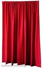 "Bedroom Home Window Treatment Drapes Cherry Red Velvet 72"" Curtain Long Panels"
