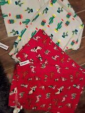 Flannel Pajama Pants Old Navy cotton Elastic drawstring Christmas dog & cactus