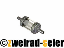 Benzinfilter Filter OMG - massive Metallausführung - Ø6mm-Anschluss, für SIMSON