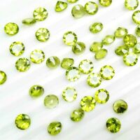 Wholesale Lot of 3.5mm Round Facet Cut Natural Peridot Loose Calibrated Gemstone