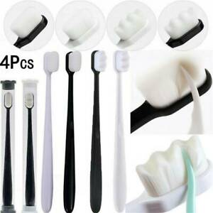 4pcs Super-Soft Toothbrushes For Sensitive Gums Micro-Nano Manual Toothbrush Set