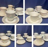 Vintage Mismatched tea cups & saucer lots~Platinum, Green, Pastel ~ Tea Party!